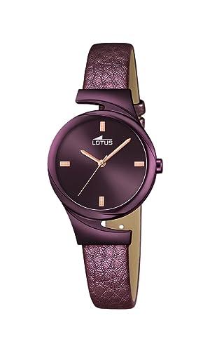Lotus Reloj Mujer de Analogico con Correa en Cuero 18346/1: Lotus: Amazon.es: Relojes