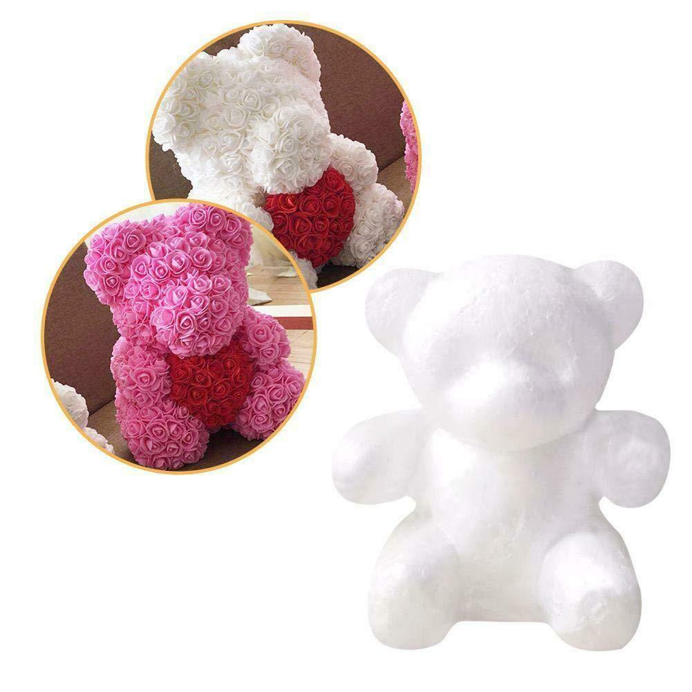 B/ärenf/örmige Modellierung Wei/ßer 3D-Polystyrol-Schaumstoff B/är Polystyrol-Styropor-Modellier-Schaumstoff B/är formt die Form f/ür das Basteln DIY