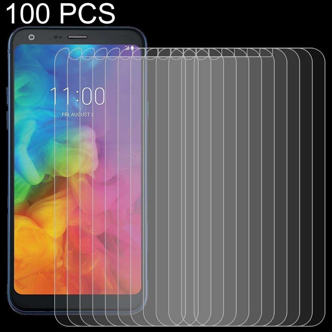 YINZHI Screen Protector Film 100 PCS 0.26mm 9H 2.5D Transparent Transparent Tempered Glass Film for Huawei Mate 20 X Clear
