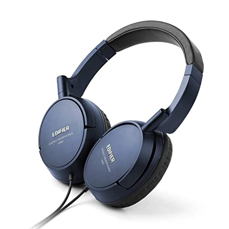 80d95a81b50 Edifier H840 Over-Ear Headphones, Stereo Lightweight Adjustable Wired  Headset, Noise Isolating Comfortable
