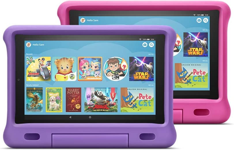 "Fire HD 10 Kids Edition Tablet 2-Pack, 10"" HD Display, 32 GB, Kid-Proof Case - Purple/Pink"