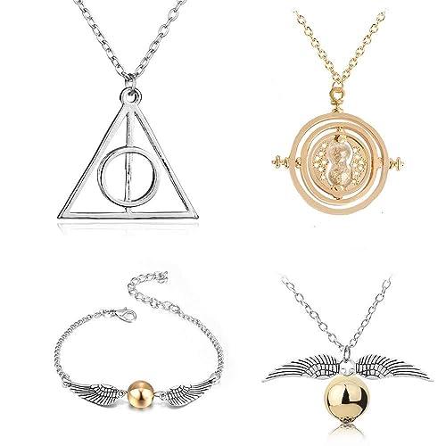 Amazon.com: JUMJEE - Juego de 4 collares de Harry Potter con ...