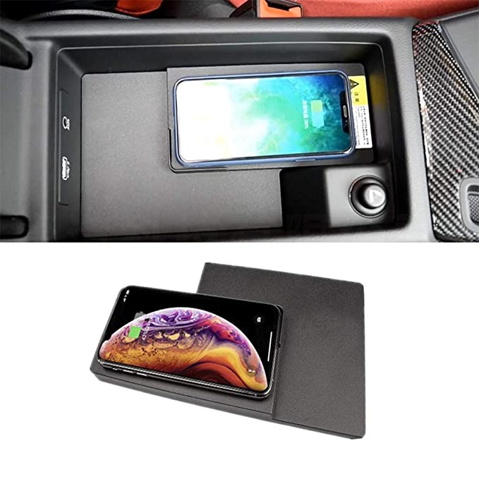 XinChout Car wireless Charger Wireless charging Box central Storage tray armrest box for Mercedes-Benz C-Class W205 C200 C300 GLC