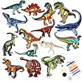 LoveInUSA Embroidered Dinosaur Set,15 Pcs Iron On Patches Iron on Transfers Patches Assorted Size Decoration Sew On Patches for DIY Jeans Jacket/Clothing/Handbag/Shoes/Caps
