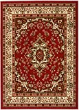 Antep Rugs Kashan King Collection Himalayas Oriental Polypropylene Indoor Area Rug (Maroon/Beige, 5' x 7')