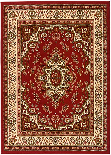 Antep Rugs Kashan King Collection HIMALAYAS Oriental Area Rug Maroon and Beige - Maroon and Beige - 8' x -