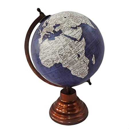 Decorative world map globe antique style grey plastic ball 13 decorative world map globe antique style grey plastic ball 13 tall standing 8 round gumiabroncs Gallery