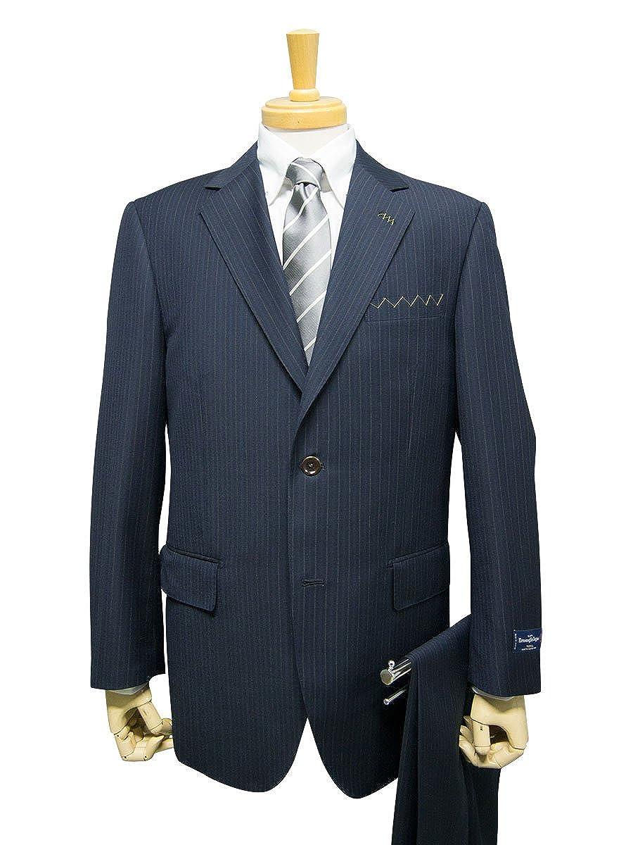 (スーツショップKAN)春夏物 2ツボタン ワンタック レギュラー スーツ ゼニア B07BNB4S88  40330-21:紺ストライプ AB5:身長170cmウエスト86cm