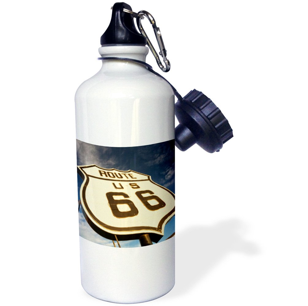 Elk City Sunset-Sports Water Bottle 21 oz Multicolor Oklahoma 3dRose USA Sign National Route 66 Museum wb/_192251/_1 21oz