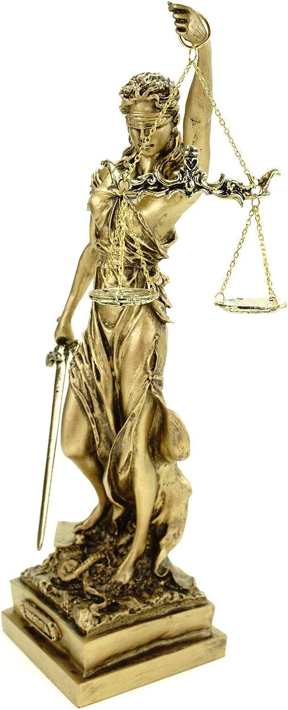 Alabaster Justitia G/öttin Figurine Sculpture Bronze BGB justice 32 cm