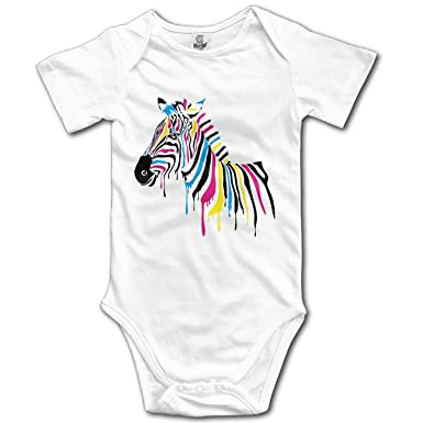 cbb909d6ef5 FFFashion FFFashion Rainbow Zebra Baby Romper Bodysuit Jumpsuit Cloth