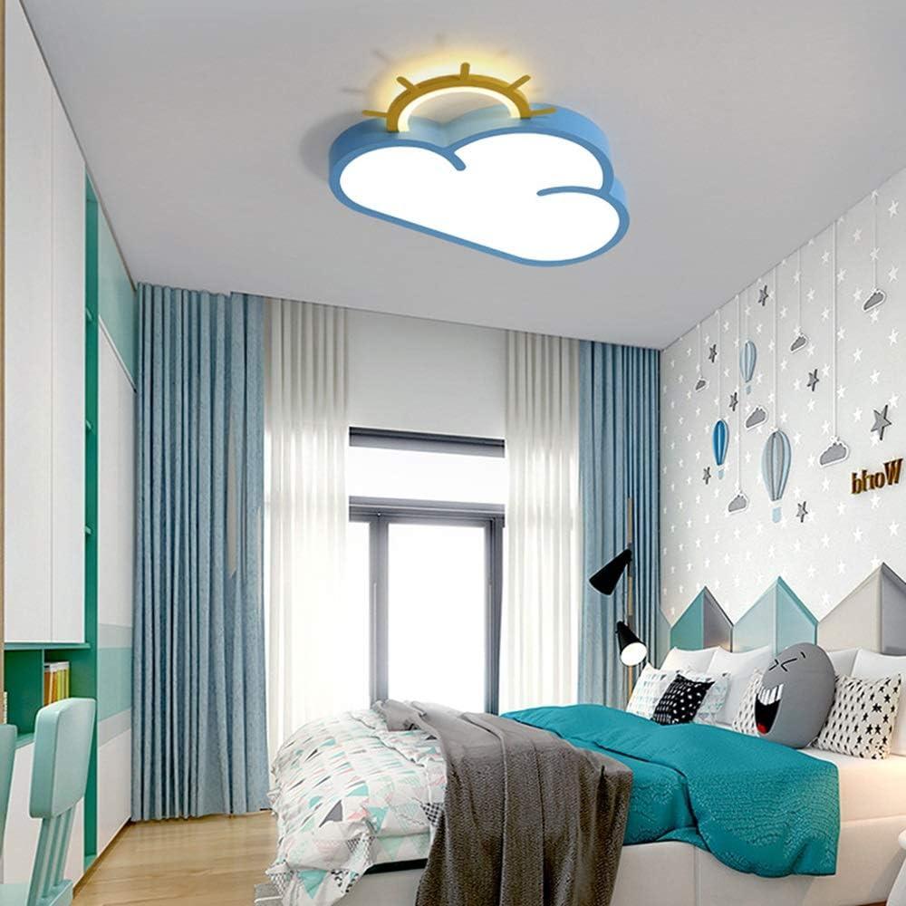 Araña de luces Lámpara de techo LED de dibujos animados de la lámpara pendiente Niño Niña Niño dormitorio Kinder 60 × 39 × 6 cm Luz colgante (Color : Warm light)