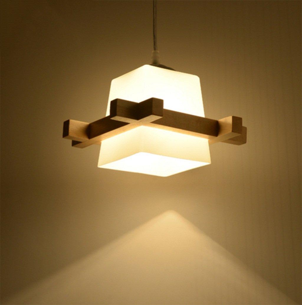 Lampadari giapponesi semplici in legno legno arte originale creativo lampade luci salone ristorante da letto di personalità Aglia UK