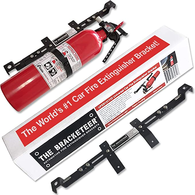 The Bracketeer Car Fire Extinguisher Bracket | Universal Design Fits Most Vehicles