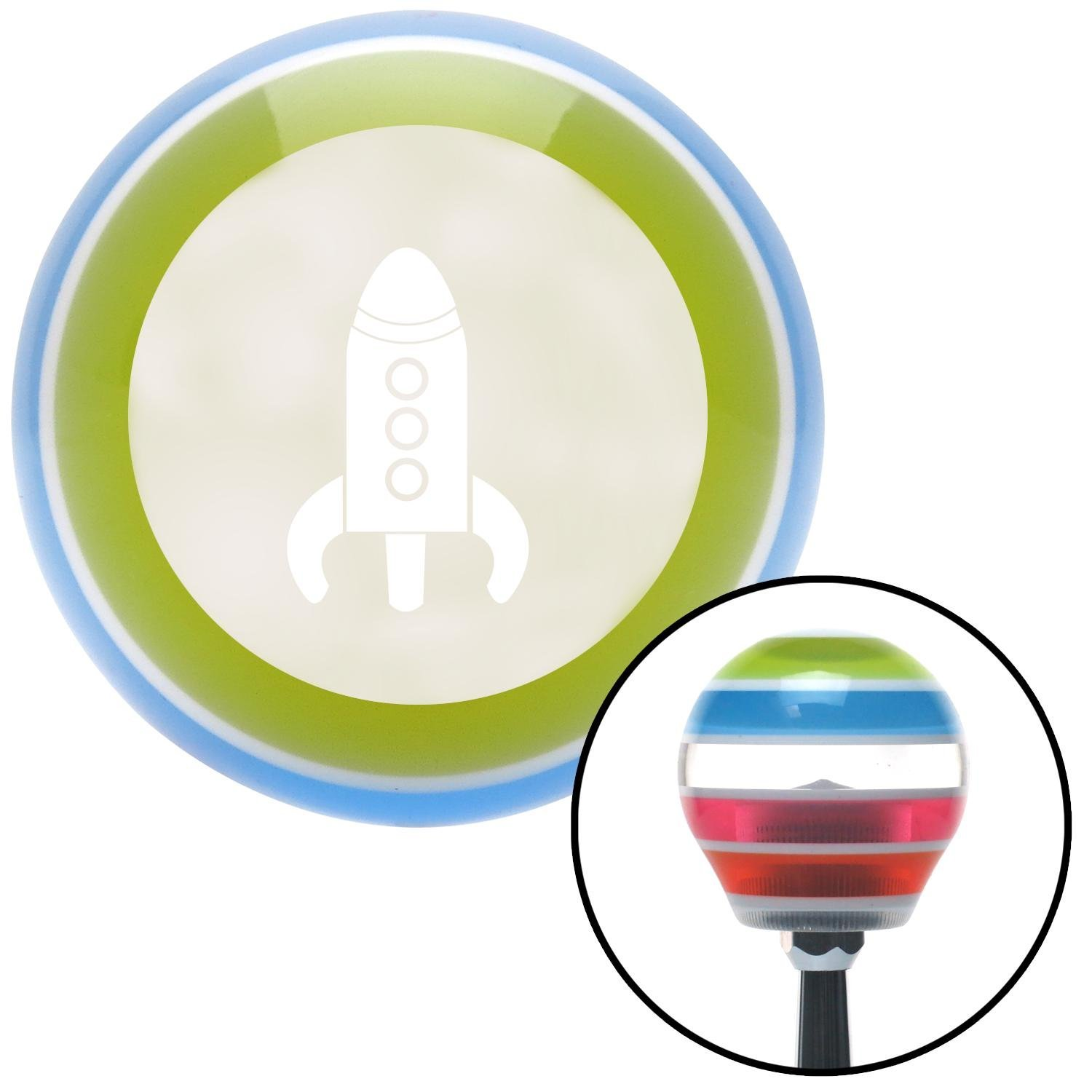American Shifter 138270 Stripe Shift Knob with M16 x 1.5 Insert White Space Ship