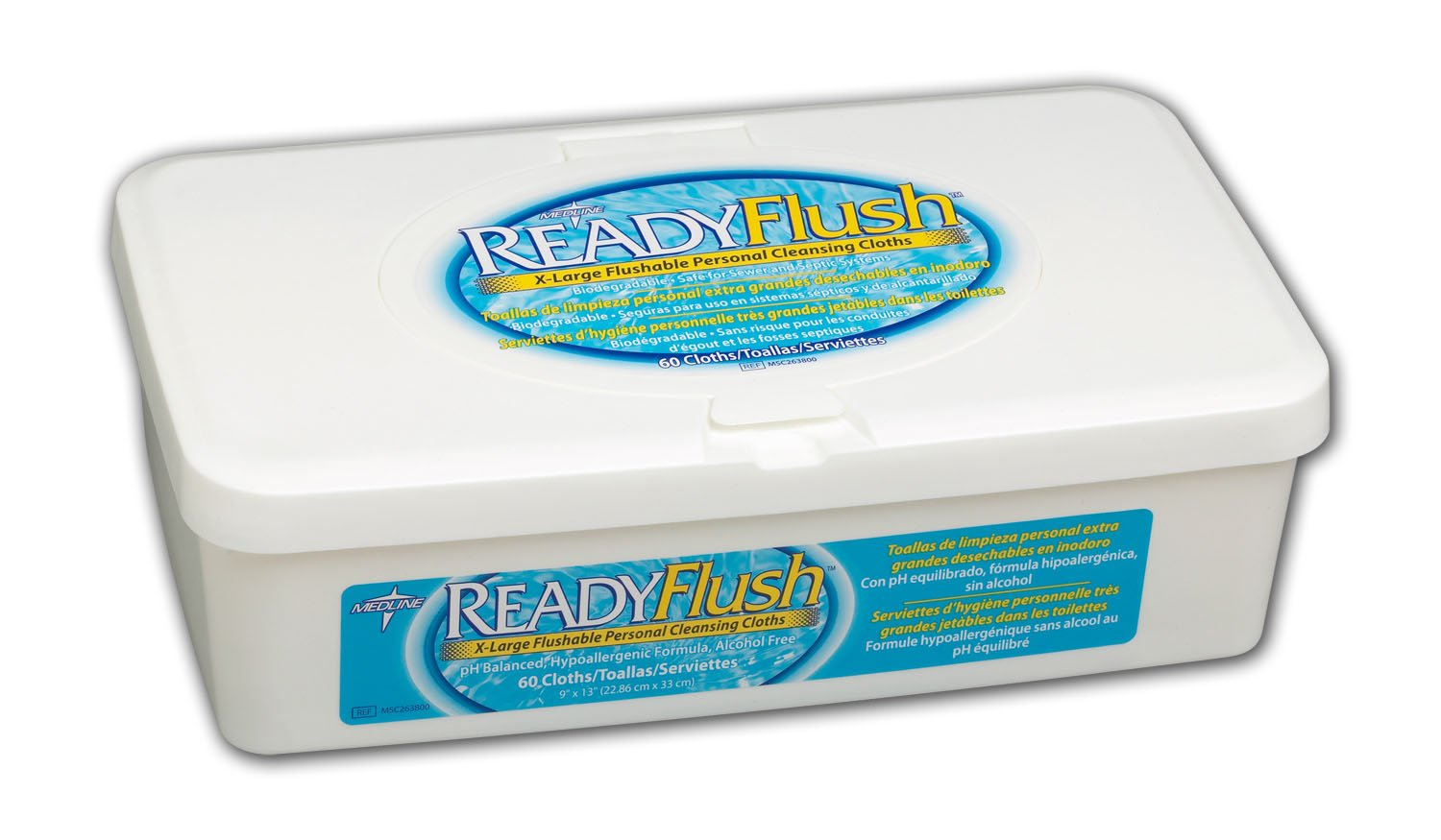 Amazon.com: Readyflush Scented Wipes 9inchx13inch 60/tub - Case Of 9 Tubs: Health & Personal Care