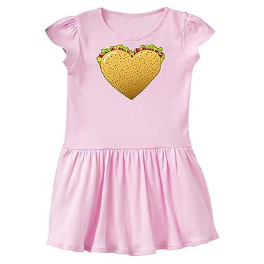df71b77a Amazon.com: inktastic - Taco Heart- Love Tacos Toddler Dress 2ed0a: Clothing
