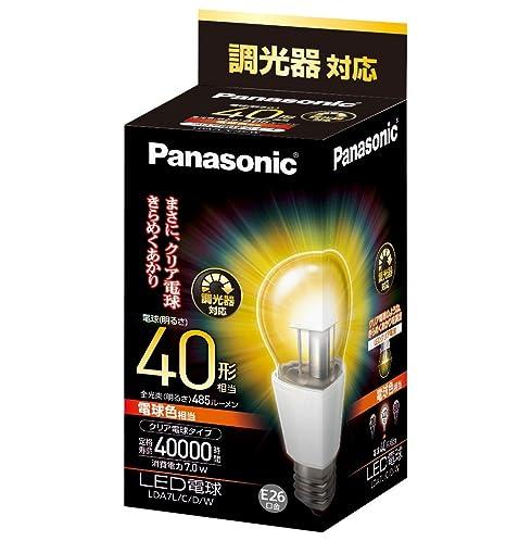 パナソニック LED電球 口金直径26mm 電球40W形相当 電球色相当(7.0W
