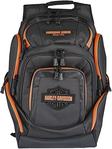 Harley-Davidson Neon Orange Bar Shield Deluxe Backpack