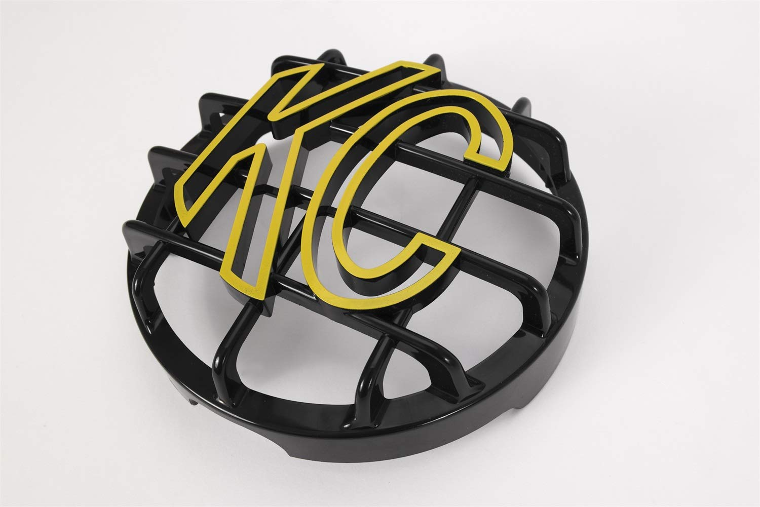 KC HiLiTES 72101 Black ABS Stone Guard with Yellow KC Logo for 6'' Lights (ea)