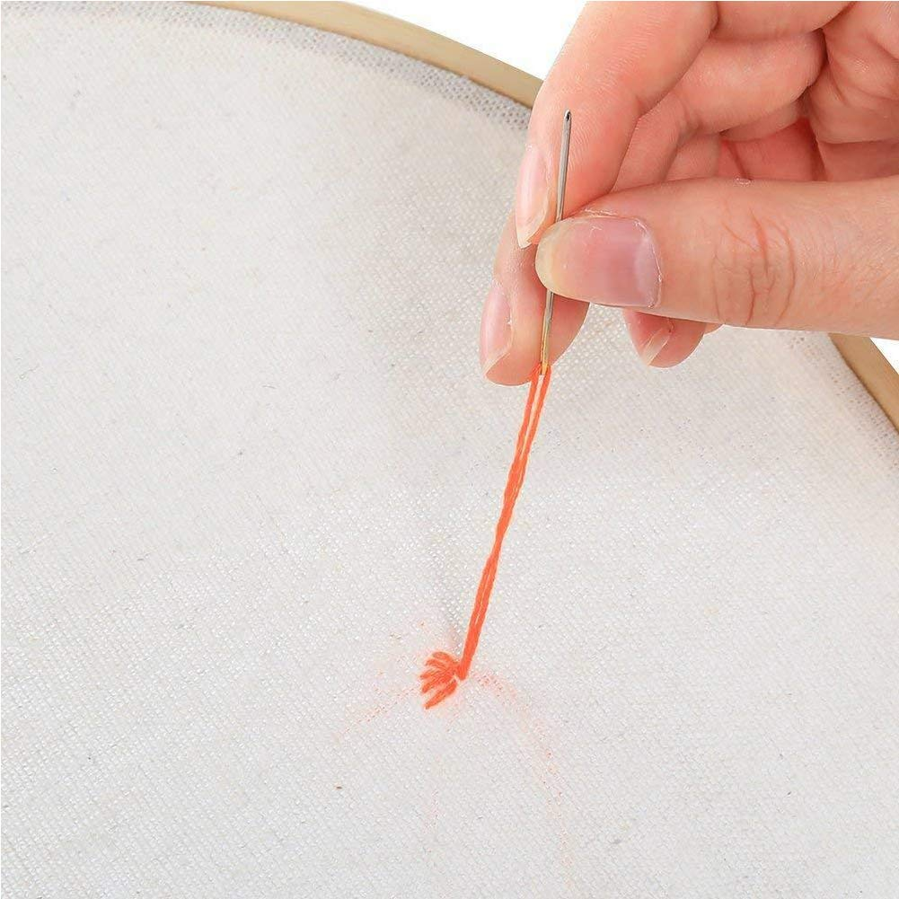 6Pcs 3 Colors Cross Stitch Cloth for Making Garment Craft Needle Embroidery 20 Inch Embroidery Linen Fabraic for Upholstery Flower Pot Decoration and Tablecloth A Natural Linen Needlework Fabric