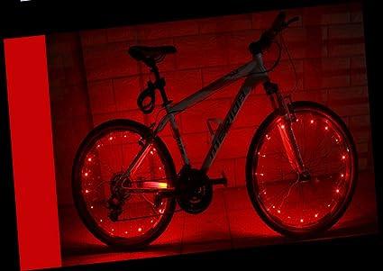 YYGIFT® Impermeable 20 Led Bicicleta Rueda Luz Cadena Seguridad ...