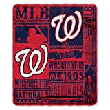 Northwest NOR-1MLB031020034RET 50 x 60 in. Washington Nationals MLB Light Weight Fleece Blanket, Strength Series