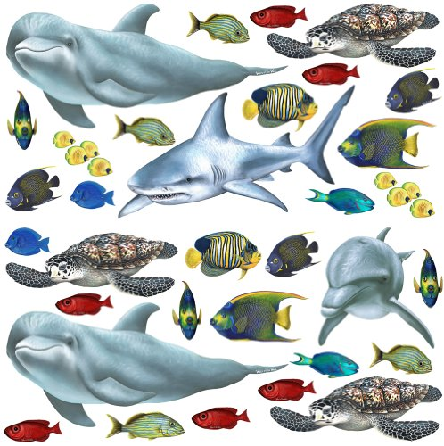 Walls of the Wild Tropical Fish and Sea Creatures Wall Mural
