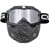 Gafas para casco de motocross tipo máscara, modernas, desmontables, con filtro para la