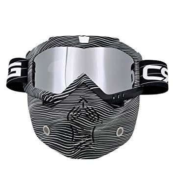 Gafas para casco de motocross tipo máscara, modernas, desmontables, con filtro