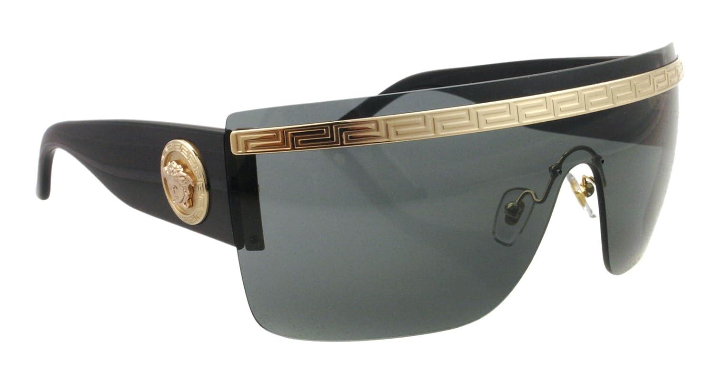 eb3822f5a268 Amazon.com  Versace 2130 125287 Black 2130 Visor Sunglasses  Versace   Clothing