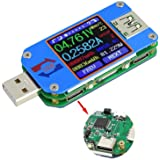 USB Tester UM25C USB Meter Tester,Voltage Current Bluetooth Battery Power Charger Voltmeter Ammeter Multimeter Tester, 1…
