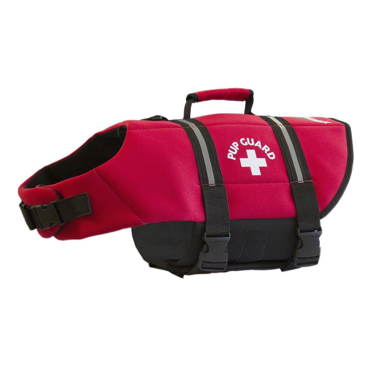 Travelin K9 Premium Red Neoprene Dog Life Jacket, Reflective, Bouyant (Large 30-38'' Chest)