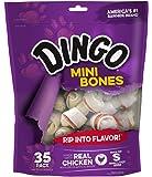 Dingo Non-China Mini Rawhide Bones for Small/Toy Dogs