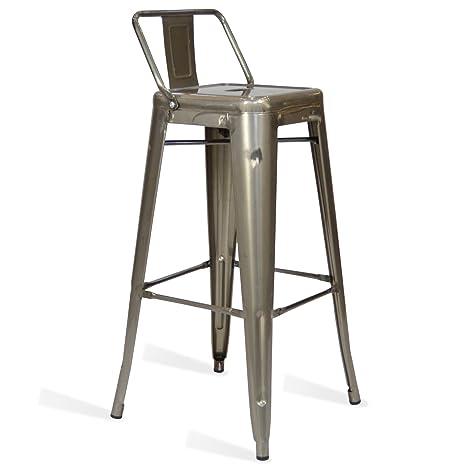 Sgabelli Tolix Prezzi.Santani Mobili Sgabello Classic Tolix Style L Metal Ispirazione Industriale 42 5 Cm X 42 5 Cm X 95 Cm