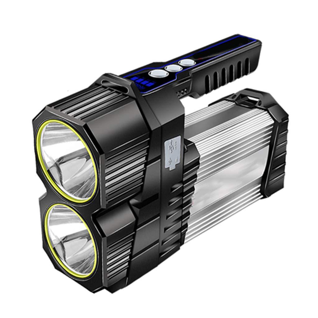Suchscheinwerfer-Taschenlampe , Wasserdicht kann doppeltes weißes Licht Aufladen 1600 Lumen Angeln Lampe Pflicht Camping Strahl Scheinwerfer Laterne Taschenlampe