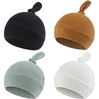 Newborn Hospital Hat Autumn Winter Baby Knot Beanie Baby Boys Girls Hats 0-12 Months