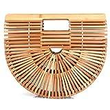Designer Summer Bamboo Handbag for Women Handmade Large Tote Bag