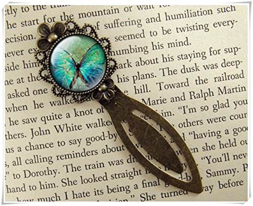 Elf House Butterfly Bookmark, Blue Butterfly, Vintage Style,Book Accessories,exquisite jewelry, pure handmade