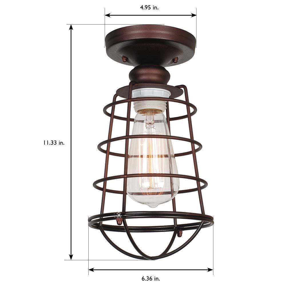 Design House 519694 Ajax 1 Light Ceiling Light Bronze