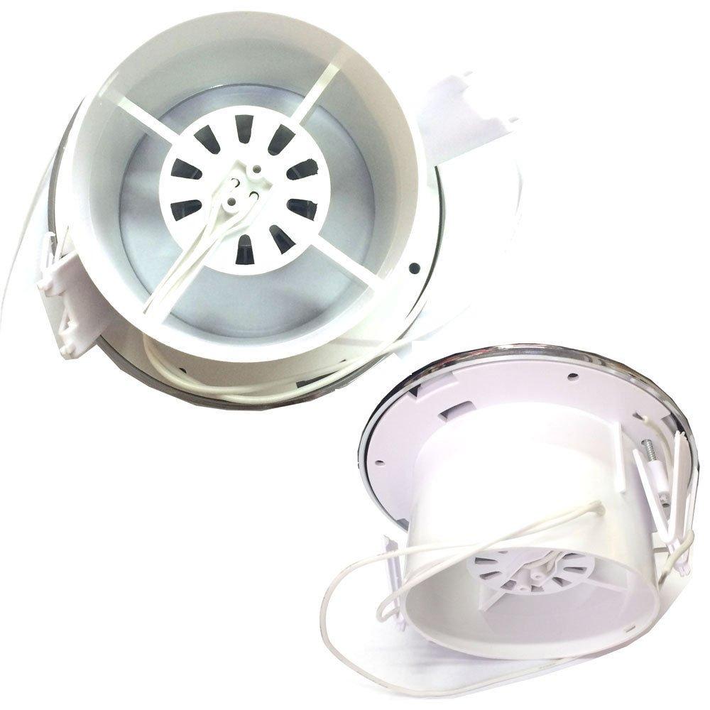 Set aus Badezimmergebl/äse mit Zeitschaltuhr und Duschlicht 100 mm 10,16 cm mit Trafo
