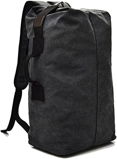 Large Capacity Travel Climbing Tactical Military Backpack Army Canvas Bucket Bag