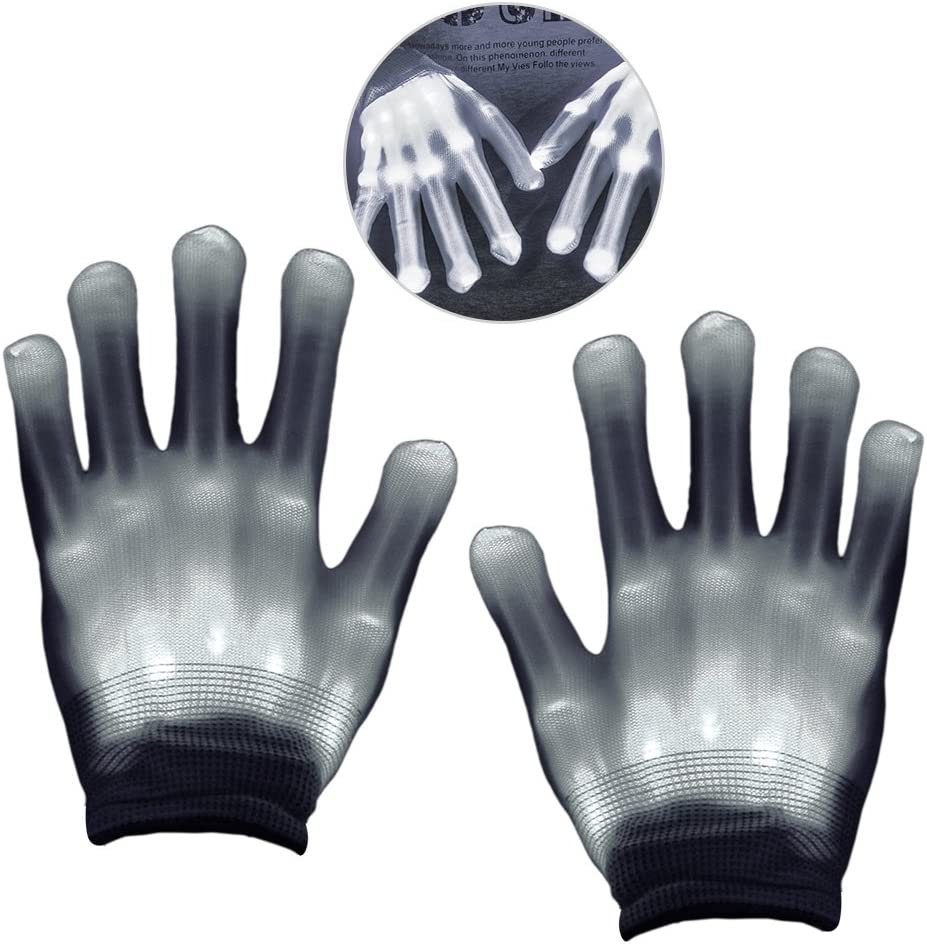 Favor de Fiesta para ni/ños SoKy Newest Luz LED Finger Light Intermitente Rave Gloves