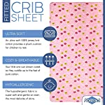 Abstract-Fitted-Crib-Sheet-for-Mini-and-Portable-Cribs-24x-38-Ultra-Soft-100-Jersey-Knit-Cotton-Hypoallergenic-Nursery-Bedding-Floral-Pink