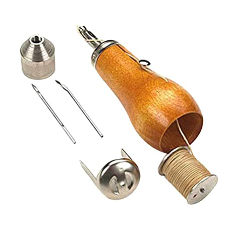 Hrph Profesional Speedy Stitcher Costura Awl Kit de herramientas para la vela de cuero y lona