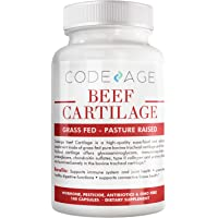 Codeage Grass Fed Beef Cartilage Supplement - Freeze Dried, Non-Defatted, Desiccated Beef Tracheal Bovine Cartilage & Liver Pills – Pasture Raised Argentina Beef Vitamins - Non-GMO -180 Capsules