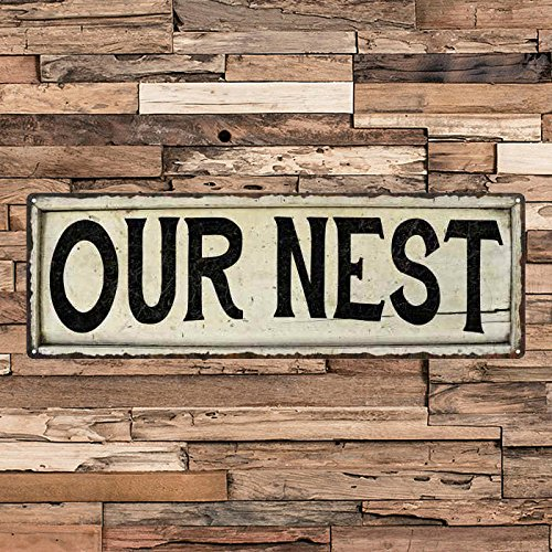 - ACOVE Our Nest Vintage Looking Shabby Chic Metal Sign Kitchen Home Wall Dcor