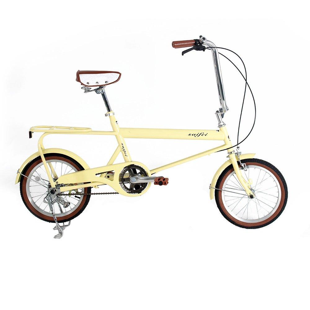 ベット乗せ自転車 16インチ ミニベロ 小径車 自転車 荷物たっぷりOK お買い物便利 95%完成車 B079K5CRQTクリーム