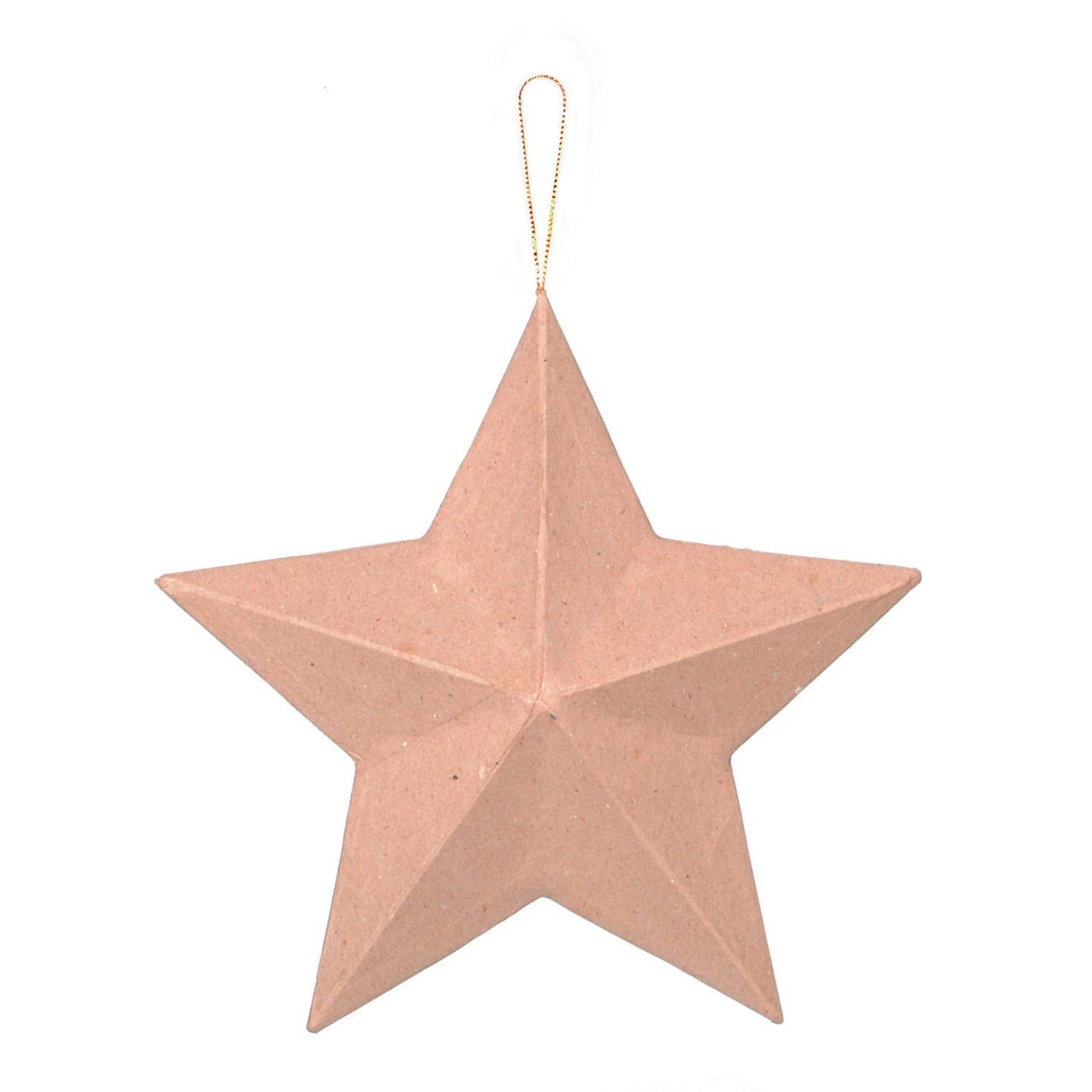 Darice Paper-Mache Star Ornament-8/""