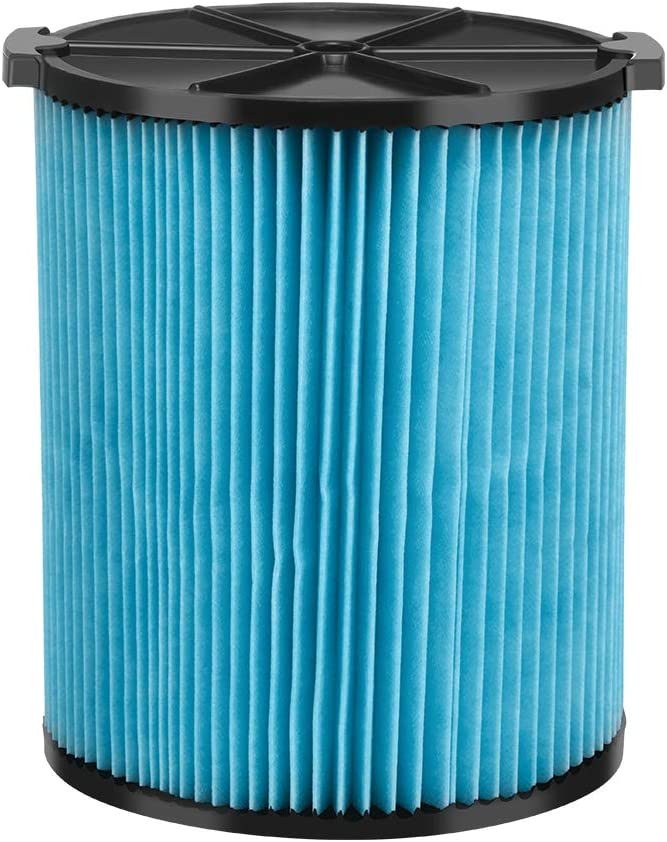 iSingo VF5000 3-Layer Pleated Paper Vacuum Filter for Ridgid Shop Vac 5-20 Gallon Wet Dry Vacuums WD1450 WD0970 WD1270 WD09700 WD06700 WD1680 WD1851 RV2400A, 1 Pack